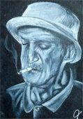 Taking It In Portrait by Artist Joe Hosler