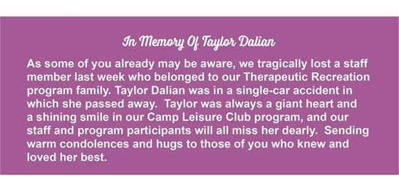 In Memory of Taylor