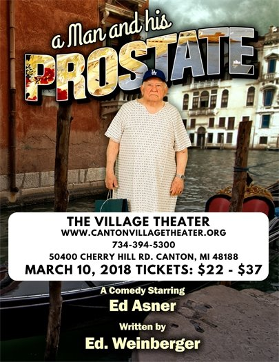 A Man and His Prostate Performance flyer