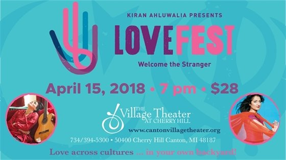 LOVEfest poster promoting Village Theater performance