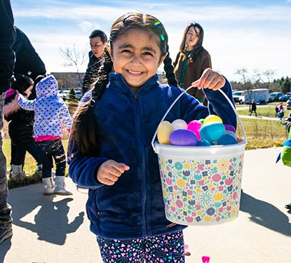Photo of smiling Easter Eggstravaganza Participant